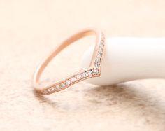 Cubic Chevron Ring - Rose Gold // R079-RG // Chevron ring,stacking rings,women rings,girls rings,unique rings,cool rings,couple rings