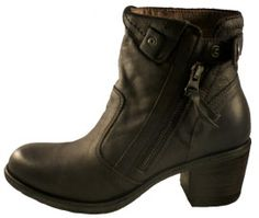 Leather low cut boot for women by Nero Giardini