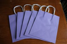 Purple Gift Bags Paper Gift Bag Bag with by SuperiorSupplies, $5.00