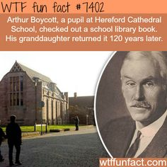 Library book returned after 120 years - FACTS