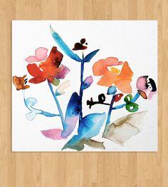 Modern Floral Watercolor - No. 1 | Art Prints | Kiana Mosley | Scoutmob Shoppe | Product Detail