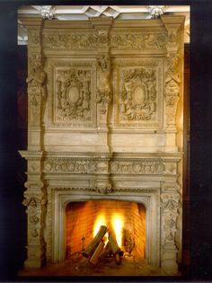 Tuxedo Park Fireplace Detail Hand Carved Stone Nineteenth Century #theydontbuildlikethisanymore Tuxedo Park, New York City Manhattan, Fire Places, Fireplace Design, Historical Romance, Romances, Stone Carving, One Light, Taking Pictures
