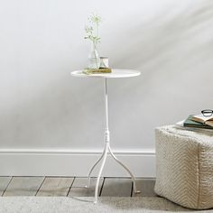 Our lovely side table was inspired by a fabulous vintage martini table we fell in love with at an antiques fair. Now updated in wonderful white, we think it's just the thing to lift any corner of your home. Made from thin, yet robust, steel, it has a smooth tray top The White Company, Painted Floorboards, Ceiling Shades, Antique Fairs, Metal Side Table, White Velvet, Nesting Tables, Light Shades, Hanging Lights