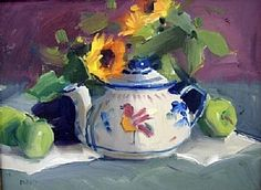 Mexican Pottery by Judy Crowe Oil ~ 12 x 16