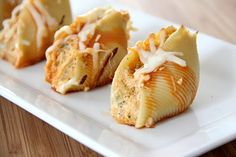 Buffalo Chicken Stuffed Shells by @Rachel R R R R  {Baked by Rachel}