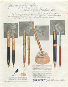 Sheaffer's Fountain Pens