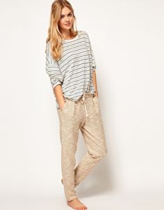 Oysho Paperbag Waist Textured Lounge Pant. *sigh* if only this brand could ship to Canada..