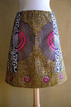 Drie Batiks rok Afrikaanse waxprint rok A-lijn rok door LUREaLURE