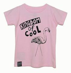 Bandit Kids Kingdom of Cool Flamingo Tee from the Kingdom of Cool range - online at www.alittlebitofcheek.com.au - Yes we ship internationally