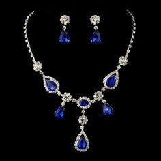 Royal Blue Necklace by How Divine https://www.howdivine.com.au/store/product/silver-royal-blue-stone-necklace-set