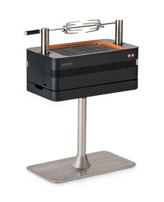 Everdure by Heston Blumenthal is a high quality range of charcoal, gas and electric grills & smokers designed to make you an outdoor cooking chef extraordinaire. Smoker Designs, Portable Bbq Grill, Fire Pit Cooking, Kitchen Hoods, Compact Kitchen, Gas And Electric, Charcoal Grill, Outdoor Cooking, Industrial Design