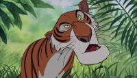 *SHERE KHAN ~ The Jungle Book (1967) the main antagonist of Disney's 1967 animated feature film The Jungle Book, and its 2003 sequel The Jungle Book 2. A powerful, suave Bengal tiger, Shere Khan had nothing but disdain for his victims. His reputation was such that he needed only to show himself to intimidate the inhabitants of the jungle. His only fears are guns and fire.