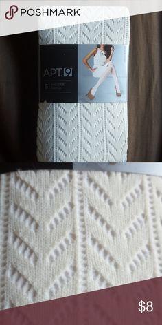 NWT Sweater Tights Beige Sweater Tights Apt.9 Accessories Hosiery & Socks