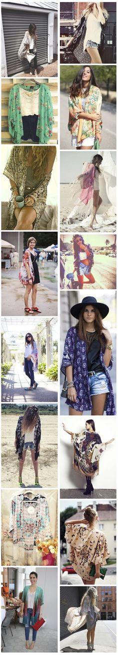 """Gosto de peças que podemos investir sem nos preocupar se a moda vai passar ou se vai virar """"modinha"""", sabem? E o Kimono é uma delas."""