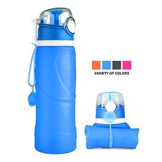 Collapsible Water Bottle MCIRCO 750ml Foldable Water Bottle BPA Free Outdoor Running Water Bottle Reusable Leak Proof Foldable Water Bottle Roll Up Cup for Camping Hiking Traveling and Daily Use >>> See this great product.