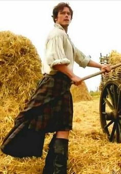 """Our Farmer-Hero....""""Aye, well. There's plenty other things to spend money on, Sassenach. I dinna need to be grand to hunt or fish—and I work the fields in my shirt.""""  Jamie Fraser, Fraser's Ridge 1778."""