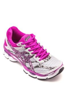 Gel Cumulus 16 Lite Show Running Shoes from Asics in grey and purple and multi_1
