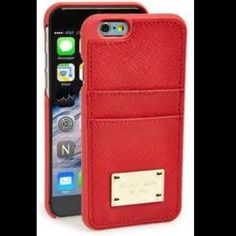 MICHAEL by Michael Kors iPhone 6 case Michael by Michael Kors safiano leather case with card slots in red. Fits iPhone 6 and 6s. New w/o tags. MICHAEL Michael Kors Accessories Phone Cases