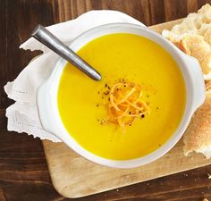 Vitamix | Carrot Ginger Tofu Soup - https://www.vitamix.com/Find-Recipes/C/A/Carrot-Ginger-Tofu-Soup