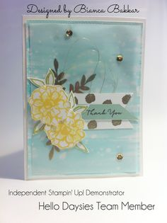 Michelle Mills, Independent Stampin' Up! Demonstrator Brisbane Australia. FB: Hello Day Cards. Designed by Hello Daysies team member Bianca and made by me.