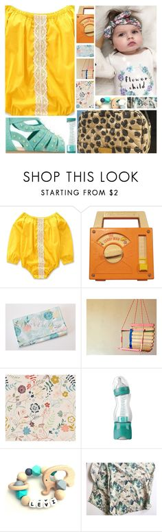 """""""Contest:: Get Happy (Pops of Yellow)"""" by sbhackney ❤ liked on Polyvore featuring Fisher Price, Mix & Match, PopsOfYellow and NYFWYellow"""