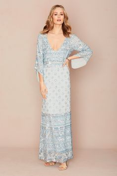 Needing your something blue? Check out the Hajari Dress from the @calypsostbarth Mariee Bridal Collection available at select boutiques and online. #MarieeBridal #CalypsoStyle