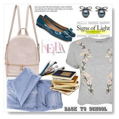 """""""Back to school"""" by lila2510 ❤ liked on Polyvore featuring Topshop, Essie and Salvatore Ferragamo"""