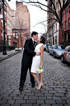 NYC City Hall wedding with portrait in Chelsea