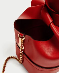 Image 4 of RED CROSSBODY BAG WITH BOW from Zara