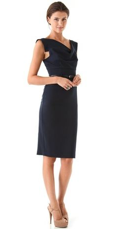 $345  Black Halo Jackie O Dress