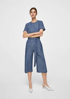 Discover the latest trends in Mango fashion, footwear and accessories. Shop the best outfits for this season at our online store. Long Jumpsuits, Jumpsuits For Women, One Piece Suit, Mango Fashion, Double Breasted, Fashion Online, Cotton Fabric, Latest Trends, Cool Outfits