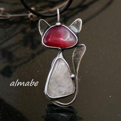 Charms For Necklaces Silver Key: 5963594021 Cat Jewelry, Animal Jewelry, Leather Jewelry, Stone Jewelry, Metal Jewelry, Jewelry Art, Jewelery, Silver Jewelry, Jewelry Design