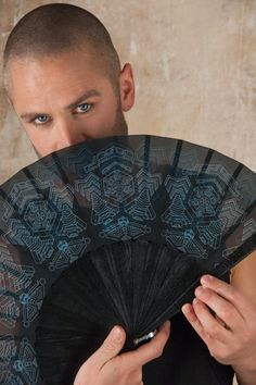 Star Wars Hand Fan and Jedi Folding hand fans with Sacred Geometry Cyberpunk Gothic Wedding Gift for Him Goth Outfit, Jedi Outfit, Assassins Creed, Cyberpunk, Dark Mori, Self Design, Foto Art, Gothic Wedding, Brass Buckle