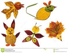 Resultado de imagem para trabalhos com folhas de outono