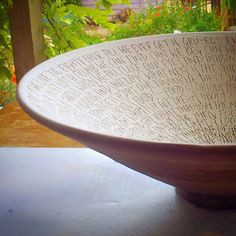 Hey, I found this really awesome Etsy listing at https://www.etsy.com/listing/200365539/minor-key-pottery-lyric-bowls-made-to