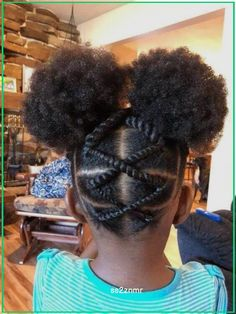 Lil Girl Hairstyles, Black Kids Hairstyles, Girls Natural Hairstyles, Natural Hairstyles For Kids, Kids Braided Hairstyles, Simple Hairstyles, Teenage Hairstyles, American Hairstyles, Hairstyle Short