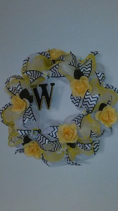 Yellow rose wreath!, made by DanaRae De La Cruz
