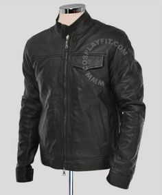 $125.00 - Transformers 3 Shia Labeouf Black Leather Jacket