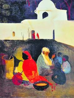 Works of Amrita Sher-gil: The Ancient Storyteller (1940)