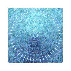 #Posters #Metal #Art - #Frozen Oval Mandala Metal Print