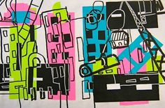 Leger city collages these are great City Collage, Collage Ideas, Art Ideas, Elementary Art Lesson Plans, 6th Grade Art, Art Lessons For Kids, School Art Projects, Middle School Art, Art Classroom