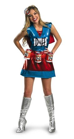 #Trendy Halloween - #Disguise Simpsons Duffwoman Adult Womens Costume - AdoreWe.com