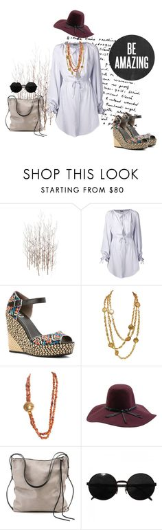 """go bo ho"" by chickinabimmer ❤ liked on Polyvore featuring Grandin Road, Alexander McQueen, Circus by Sam Edelman, Chanel, Yves Saint Laurent, Brixton, Ina Kent and Versace"