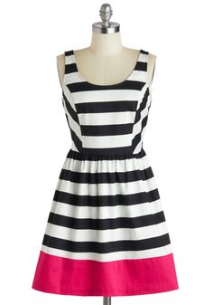 Rock the Line Dress, #ModCloth - loved this dress online, but when I got it in person, I hated it!