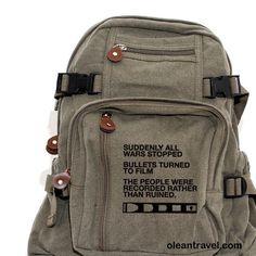 Backpack Film v. Bullet, Canvas Backpack, Rucksack, Travel Backpack, Camera Bag, Small Bag, Women & Men's Backpack - http://oleantravel.com/backpack-film-v-bullet-canvas-backpack-rucksack-travel-backpack-camera-bag-small-bag-women-s-backpack