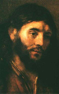 Rembrandt, Head of Christ.