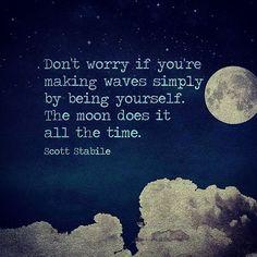 being moon-self ;)