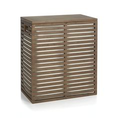 Dixon Bamboo Hamper with Liner | Crate and Barrel