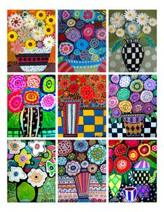 50 OFF  Flowers ACEO card print set   lovers by HeatherGallerArt, $11.99