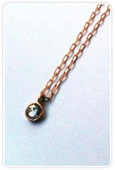Kristen Elspeth Rosecut Diamond Necklace at ShopGoldyn.com